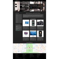 DEFAULT-X Theme бесплатный шаблон с черным цветом
